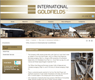 International Goldfields Limited Website Link