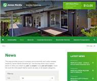 James Hardie Industries Plc Website Link