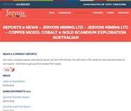 Jervois Mining Limited Website Link