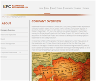 Kazakhstan Potash Corporation Limited Website Link