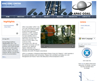 APAC Coal Limited Website Link