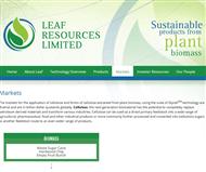 Leaf Resources Ltd Website Link