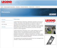 Legend Corporation Limited Website Link