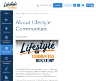 Lifestyle Communities Limited Website Link