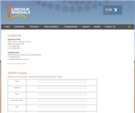 Lincoln Minerals Limited Website Link