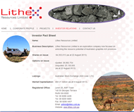 Lithex Resources Limited Website Link