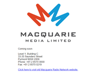 Macquarie Media Limited Website Link