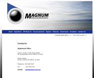 Magnum Mining and Exploration Limited Website Link