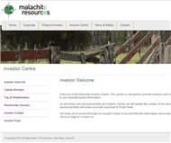 Malachite Resources Limited Website Link