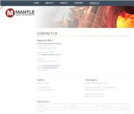 Mantle Mining Corporation Limited Website Link