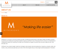 McPherson's Limited Website Link