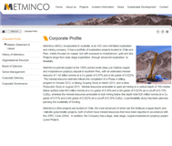 Metminco Limited Website Link