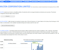 Milton Corporation Limited Website Link