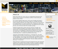 Minera Gold Limited Website Link