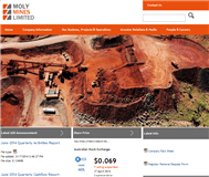 Moly Mines Limited Website Link