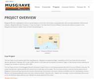 Musgrave Minerals Limited Website Link