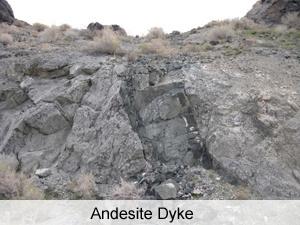 Geology - Andesite Dyke