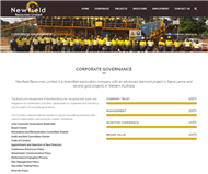 Newfield Resources Limited Website Link