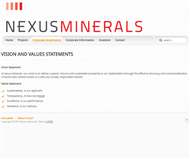 Nexus Minerals Limited Website Link