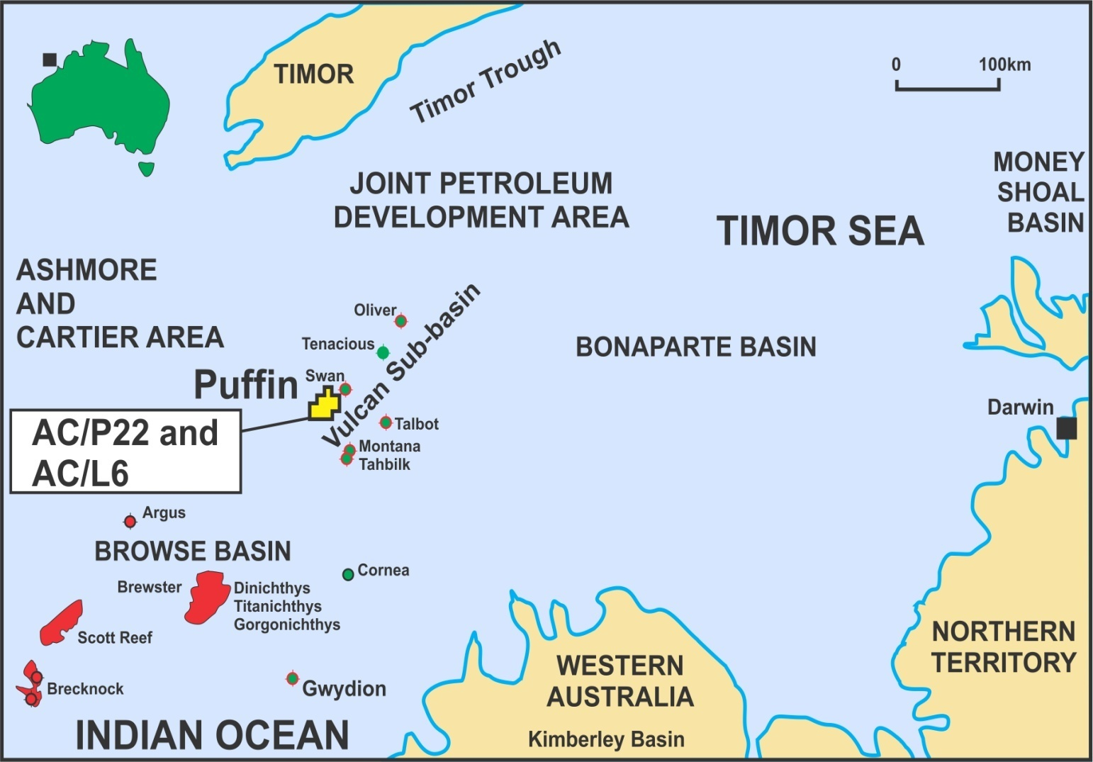 Figure 1. Puffin Field location