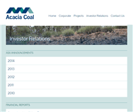 Acacia Coal Limited Website Link