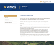 Orinoco Gold Limited Website Link