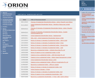 Orion Equities Limited Website Link