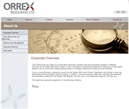 Orrex Resources Ltd Website Link