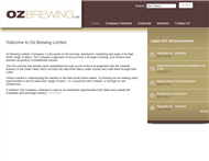 OZ Brewing Limited Website Link