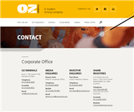 OZ Minerals Limited Website Link