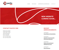 Pacific Ore Limited Website Link