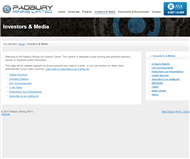 Padbury Mining Limited Website Link