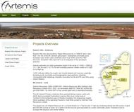 Artemis Resources Limited Website Link