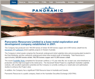 Panoramic Resources Limited Website Link