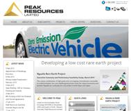 Peak Resources Limited Website Link