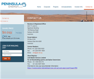 Peninsula Energy Limited Website Link