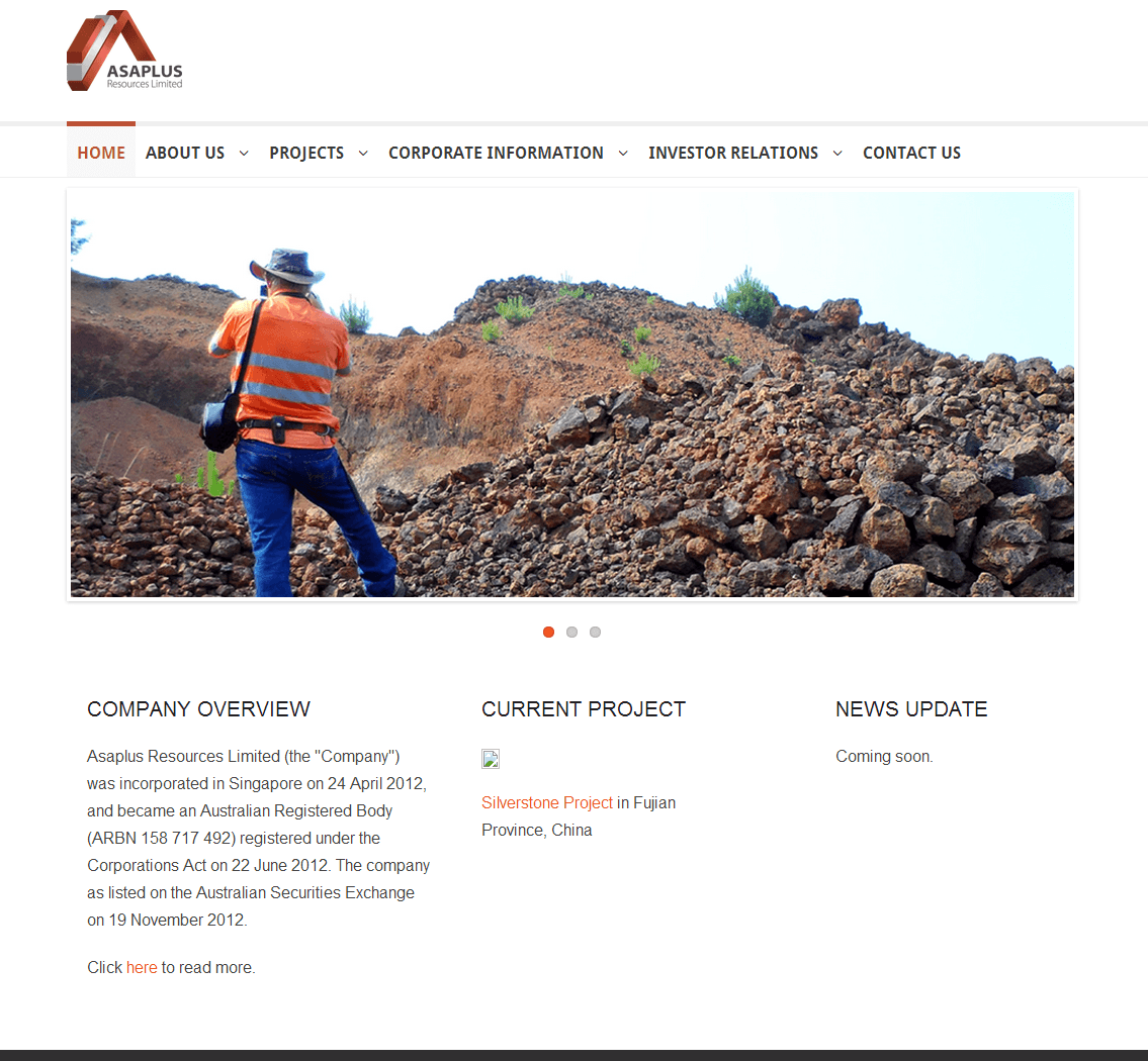 Asaplus Resources Limited Website Link