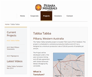Pilbara Minerals Limited Website Link
