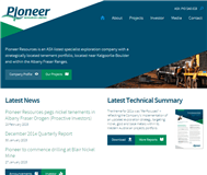 Pioneer Resources Limited Website Link