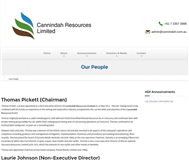 Cannindah Resources Limited Website Link