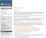 Platinum Asset Management Limited Website Link