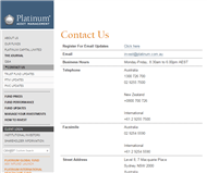Platinum Capital Limited Website Link