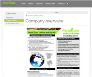 Plymouth Minerals Limited Website Link