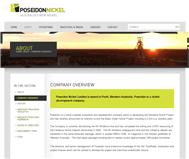 Poseidon Nickel Limited Website Link