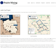Prairie Mining Limited Website Link