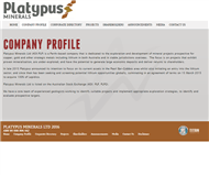 Platypus Minerals Ltd Website Link