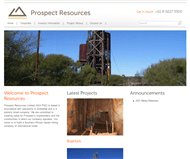 Prospect Resources Limited Website Link