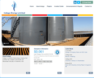 Indago Energy Limited Website Link