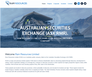 Ram Resources Limited Website Link