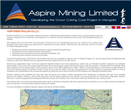 Aspire Mining Limited Website Link